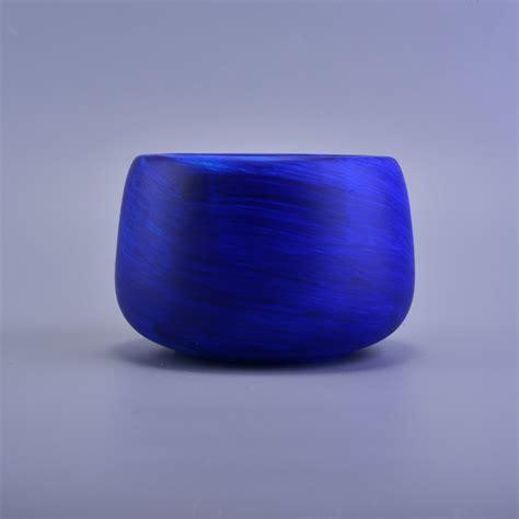 Blue Ceramic Cobalt Blue Painting Handmade Ceramic Candle Jar