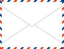 international zip code pattern postal letters envelopes line art vertical seamless