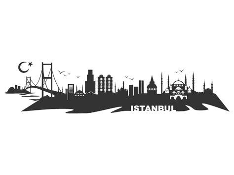 wandtattoo istanbul skyline istanbul wandtattoo bei