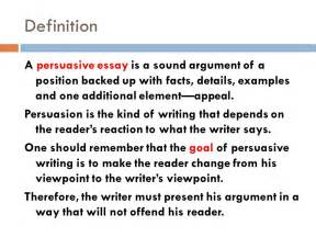 Define A Essay by Persuasive Writing Mrs Guillory S Class