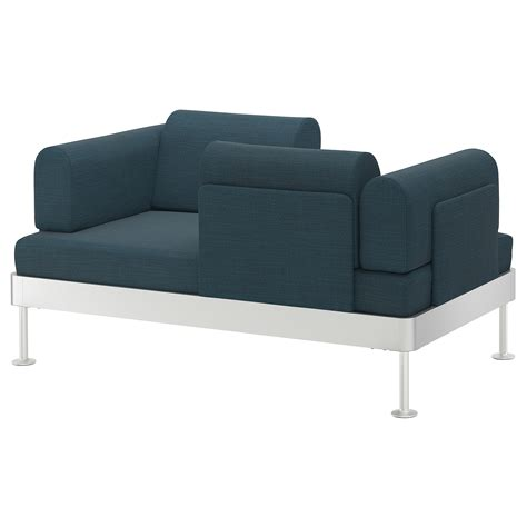ikea two seat sofa delaktig 2 seat sofa hillared dark blue ikea