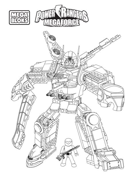 Free Coloring Pages Of Halo Mega Bloks Power Rangers Megazord Coloring Pages
