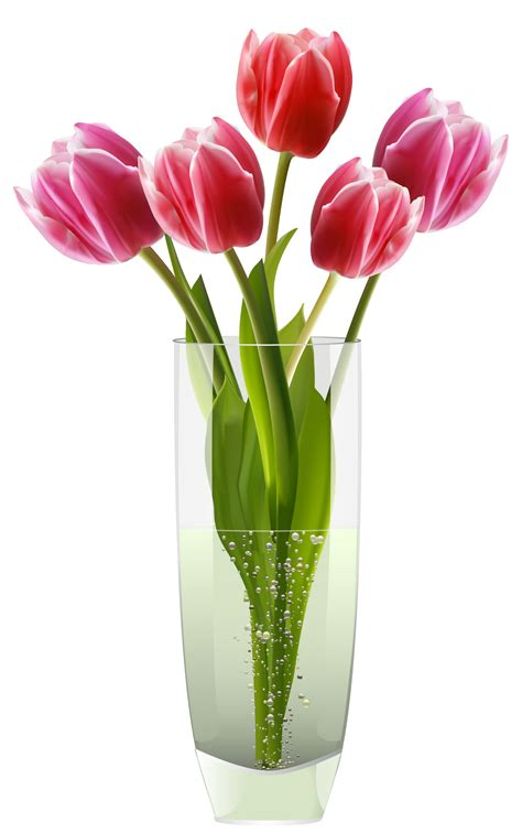 Pictures Of Tulips In Vases by Pink Tulips Vase Png Clipart Clipart Best Clipart Best