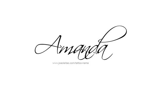 amanda tattoo amanda name designs