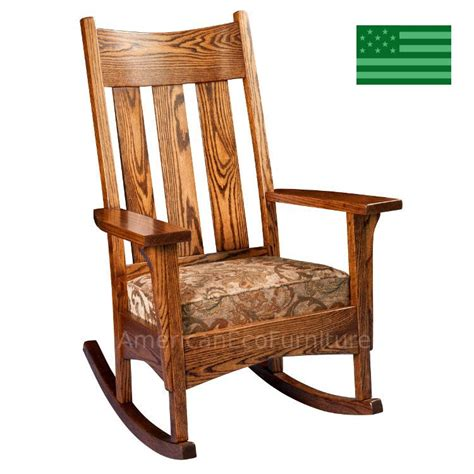 Solid Oak Rocking Chair by Amish Anson Mission Rocking Chair Solid Wood Made In