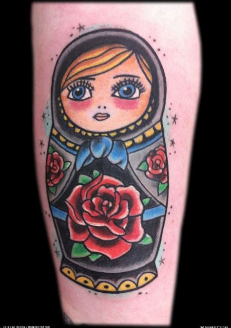 beautiful nesting doll tattoo russian nesting dolls