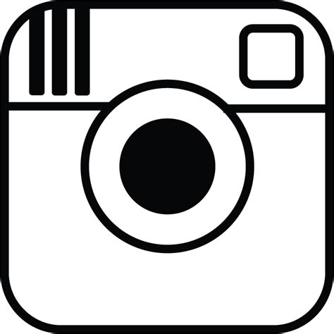 instagram logo black  white poppys photobooths