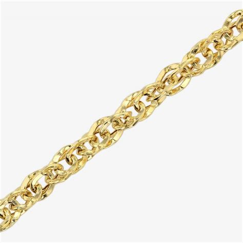 Chain Necklaces by 9ct Gold Singapore Style Chain Necklace