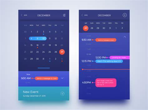 calendar design in css calendar by worawaluns dribbble