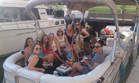 chicago river pontoon boat rental rent chicago boats in chicago il groupon