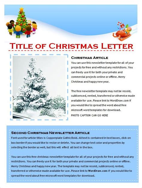 Christmas Newsletter Templates 2017 Best Business Plan Template Newsletter Templates Publisher Free