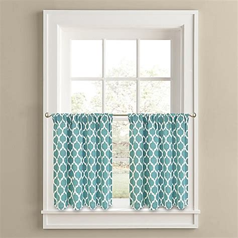 36 curtain panel buy morocco 36 inch window curtain tier panel pair in aqua