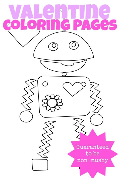 valentines activities 3 non mushy valentines day coloring pages