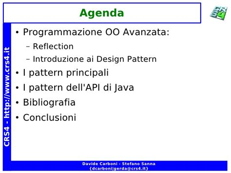 reflection design pattern java exle introduzione ai design patterns nella programmazione a oggetti