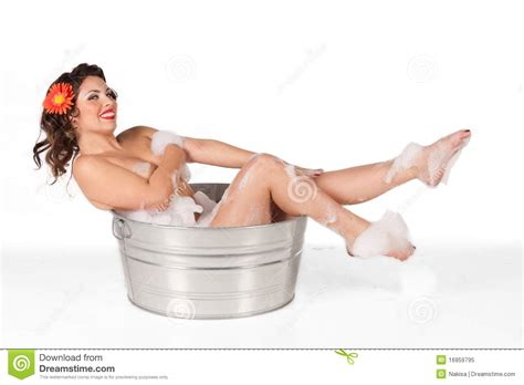 pin up girl in bathtub pinup in the tub stock image image of soap washtub