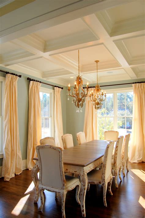 dining room ceiling dining room coffered ceiling for the home pinterest