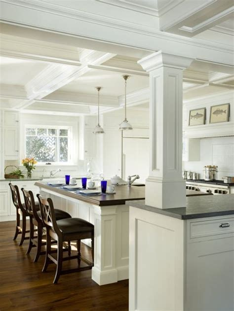 kitchen islands with pillars another one kitchens and wrapped columns home design ideas pictures remodel and decor