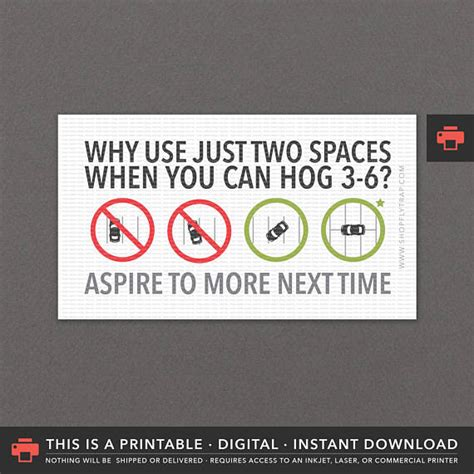bad parking business card template last minute gift printable bad parking notes cards