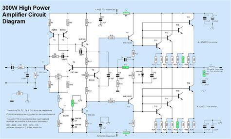 high voltage transistor lifier circuit 300w high power lifier circuit electronic circuit