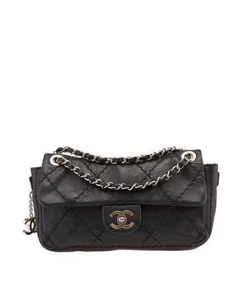 Chain Quilted Shoulder Bag chanel chanel chain around black quilted leather shoulder