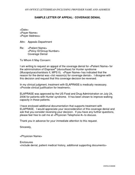 Appeal Letter Format Template Letter Of Appeal Sle Template Resume Builder