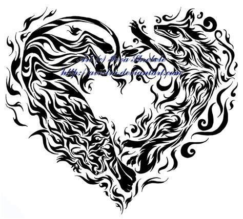 heart tribal tattoo designs and air tribal by avestra on deviantart