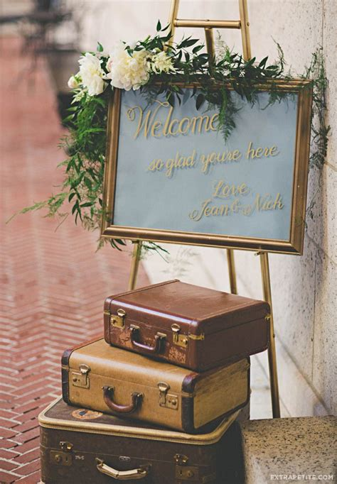 vintage travel decor extrapetite our vintage inspired wedding at the