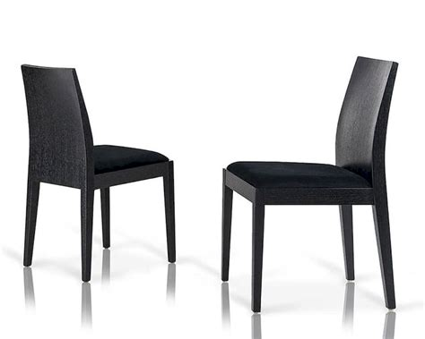 contemporary black fabric dining chair 44dn23 set of 2