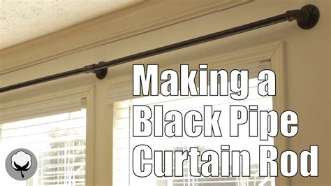 how to make a curtain rod making a black pipe curtain rod youtube