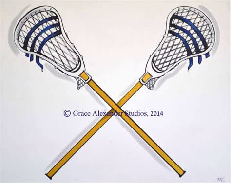 Handmade Lacrosse Sticks - original custom lax navy lacrosse sticks crossing play