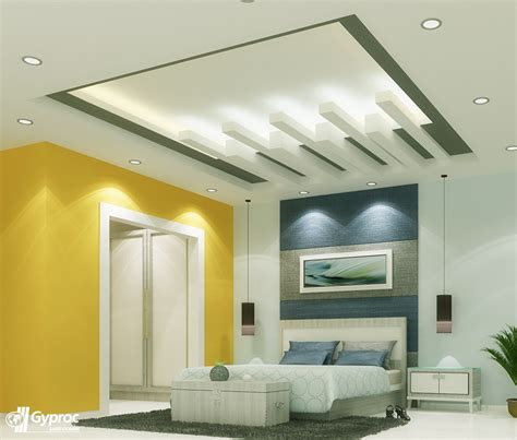 Ceiling Designs Bedroom Experience A Positive Chage In Your Home With This Artistic Falseceiling Visit Www Gyproc In