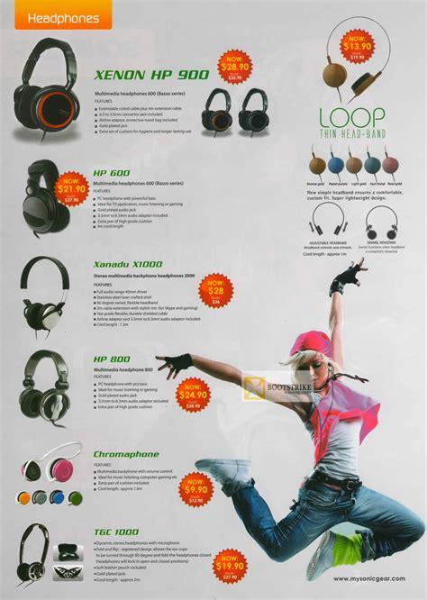 Headset Sonicgear Loop Ii X leap frog sonicgear headphones xenon hp 900 hp 600