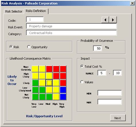 Using Risk And Custom Excel Vba Programming To Automate The Creation Of Risk Registers Risk Risk Probability And Impact Matrix Template Excel