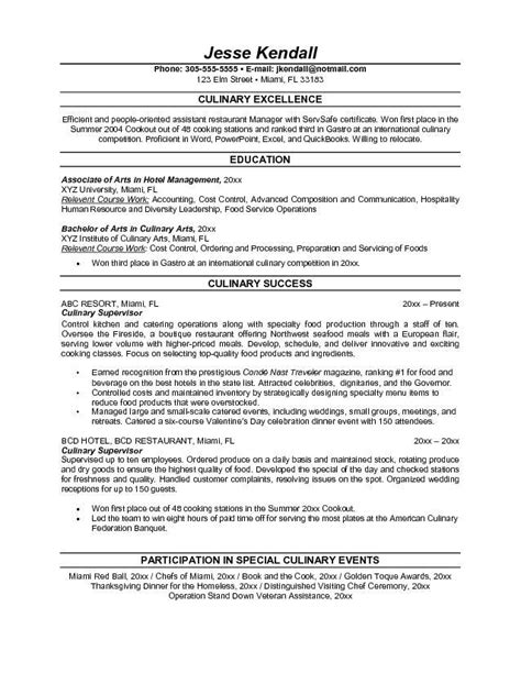 Culinary Resume Templates by Culinary Resume Resume Ideas