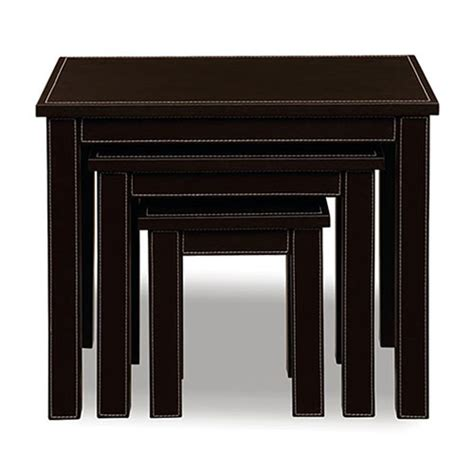 Nesting Tables Walmart by Faux Leather Nesting Tables Set Of 3 Furniture