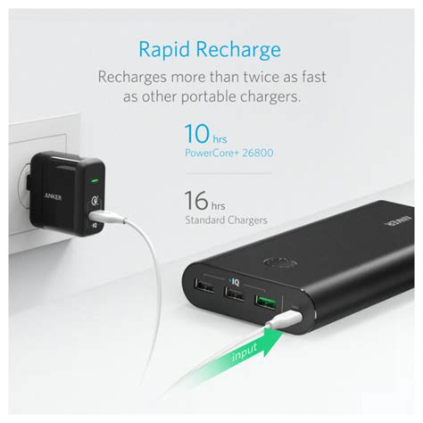 Anker Powercore 26800mah buy anker powercore plus power bank 26800mah with charger
