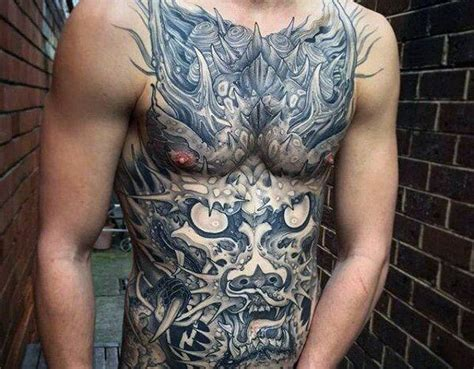 full stomach tattoos for men 150 coolest stomach tattoos for