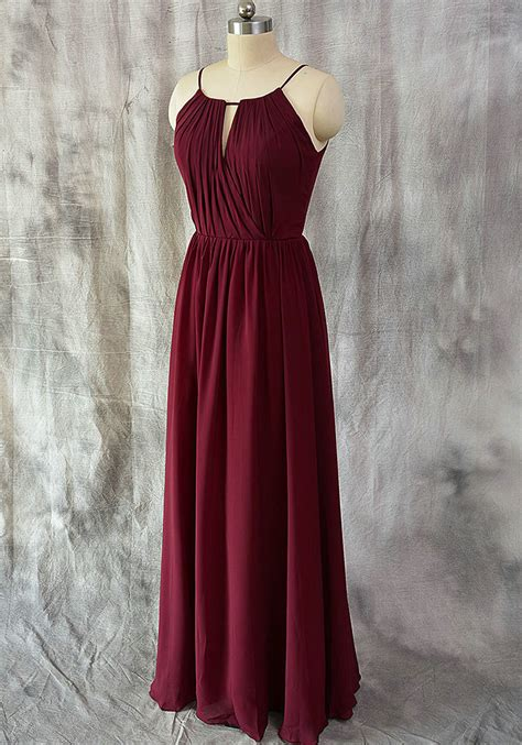 Bridesmaid Dresses Stores In Ct - a line burgundy chiffon bridesmaid dress vintage burgundy