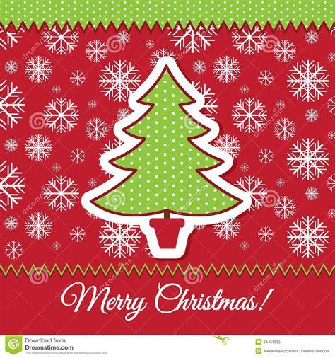 christmas tree greeting card design stock vector image