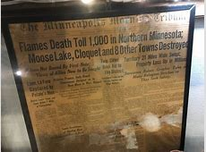 Moose Lake fire no less horrible 100 years later | MPR News Grandfathers