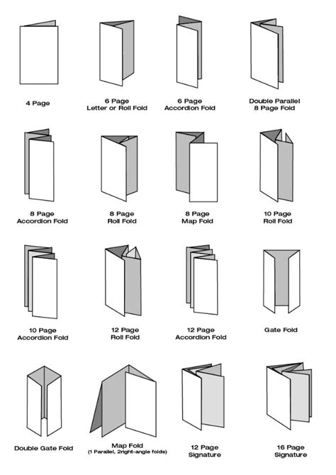 Types Of Paper Folds - types of brochure folds pictures to pin on