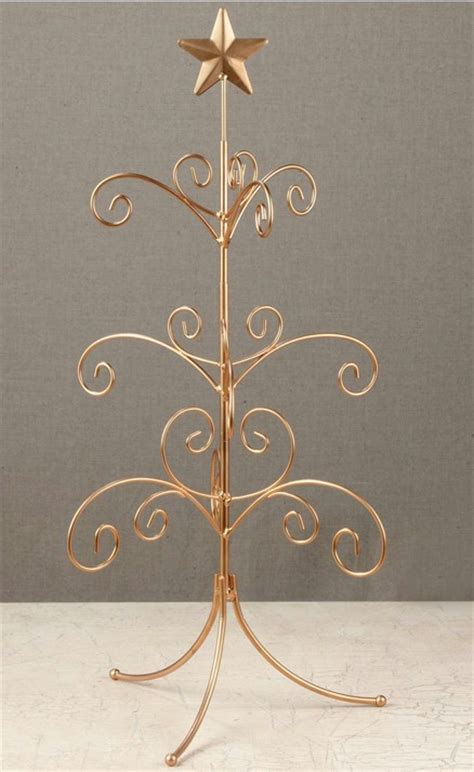 ornament trees regent display tree 22 quot gold mini