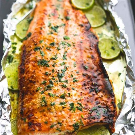 Best Dinner Recipes Of All Time by Baked Honey Cilantro Lime Salmon In Foil Creme De La Crumb