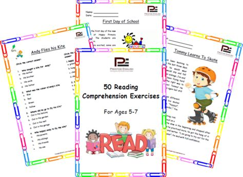 exercises with keys free english materials for you free 50 reading comprehension exercises for ages 5 7