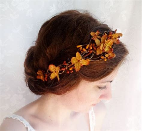 wedding hair accessories orange fall wedding hair accessories copper orange bridal