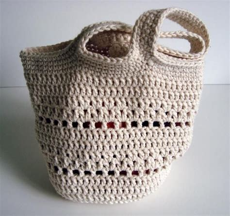 crochet tote bag pattern pinterest crocheting small round market bag idea only crochet