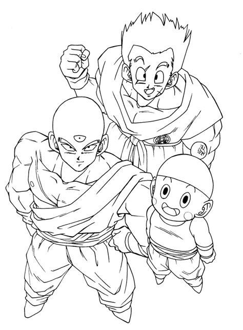 desenhos do dragon ball z af az dibujos para colorear