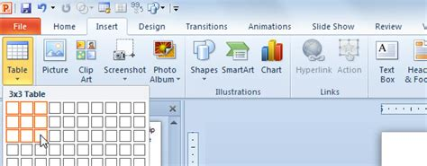 How To Add Simple Matrix In Powerpoint 2010 Insert Powerpoint Template