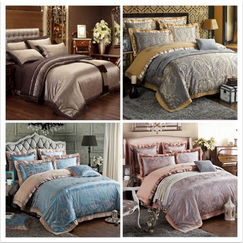 luxury bedding sets king size aliexpress com buy 6pcs luxury bedding set silk
