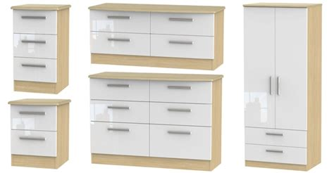 white gloss and oak bedroom furniture welcome furniture knightsbridge high gloss bedroom